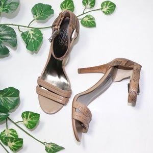 ❣️Coach Hally Python Strappy Vancheta Leather Heel